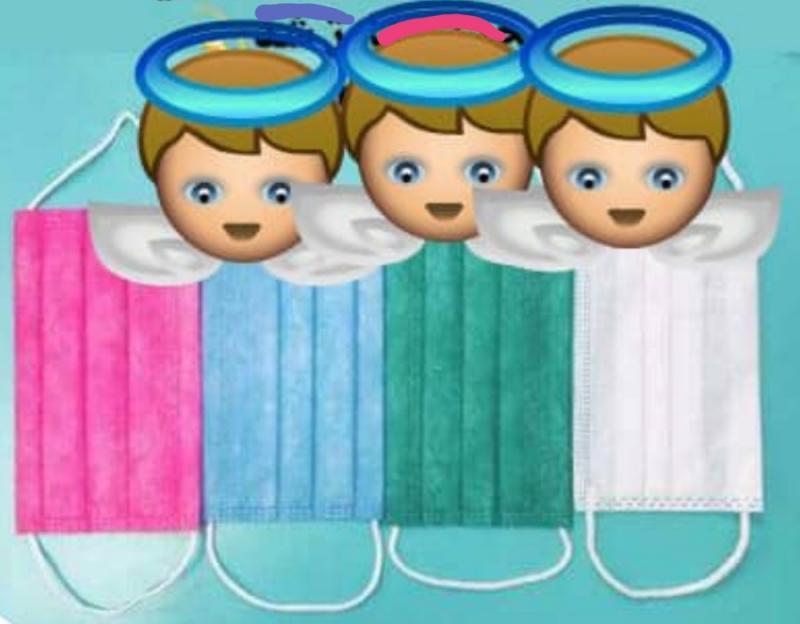 پک 50 تائی ماسک کودک 3 لایه رنگبندی