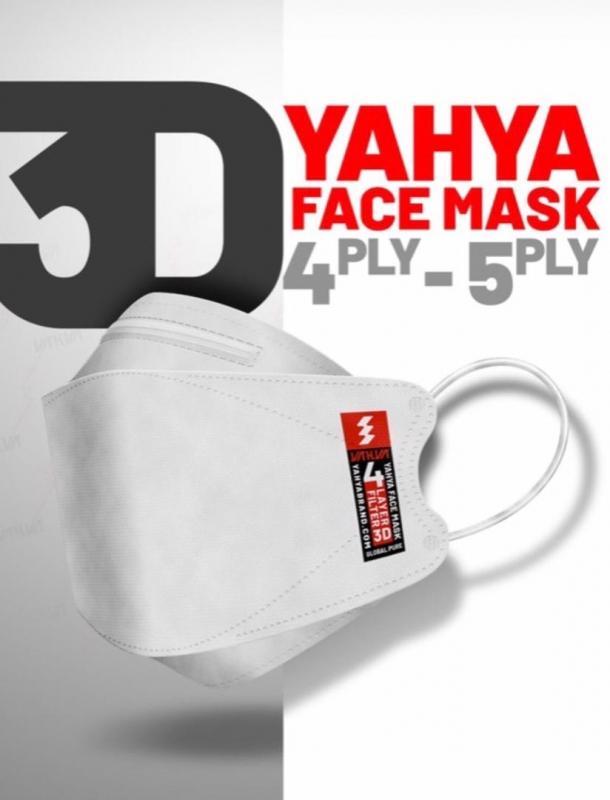 پک 3 عددی ماسک استریل طبی سه بعدی یحیی