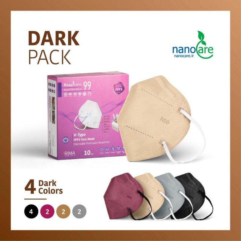 جعبه 10 عددی ماسک KN99-VTYPE دارک ریما