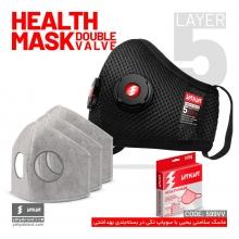 ماسک پیاده روی و ورزش قابل شستشو دو سوپاپ صادراتی یحیی