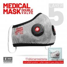 ماسک شش لایه استریل N95 دو سوپاپ یحیی