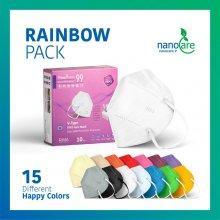 جعبه 10 عددی ماسک KN99-VTYPE رنگین کمان ریما